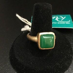 Rivka Friedman Jewelry - Rivka Friedman 18K gold clad cabochon